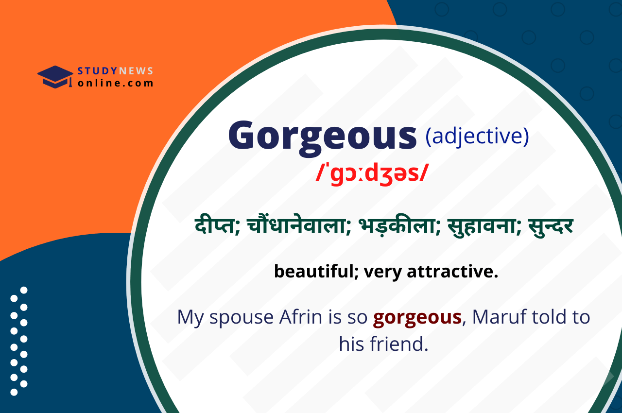 Gorgeous Meaning in Hindi